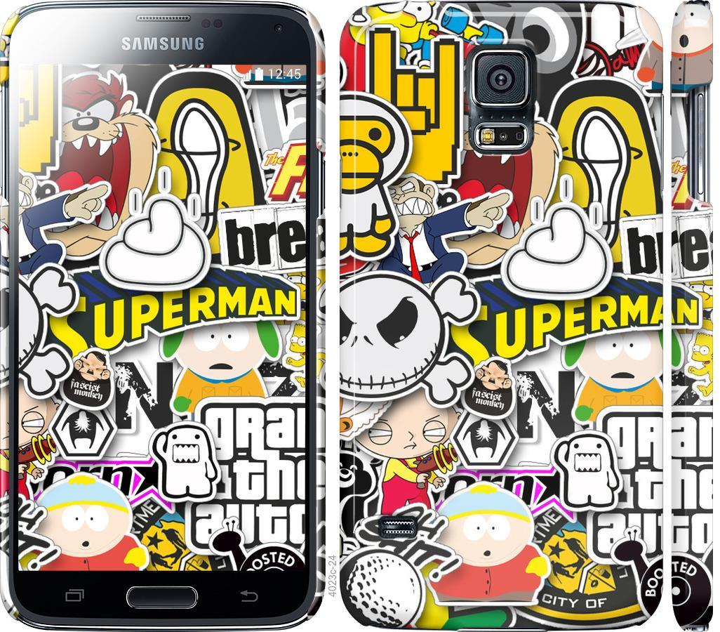 Чехол на Samsung Galaxy S5 g900h Popular logos