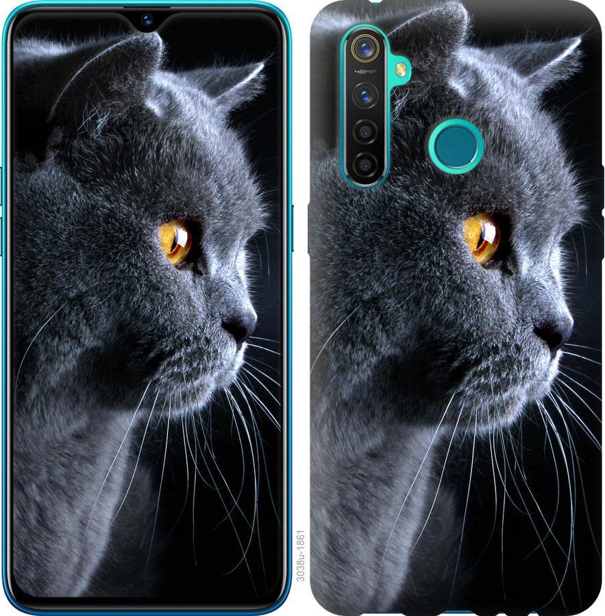 Чехол на Realme 5 Pro Красивый кот