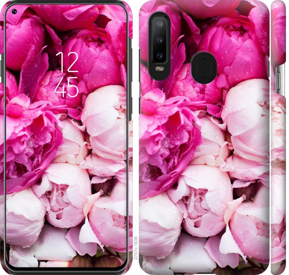 Чехол на Samsung Galaxy A8S Розовые пионы