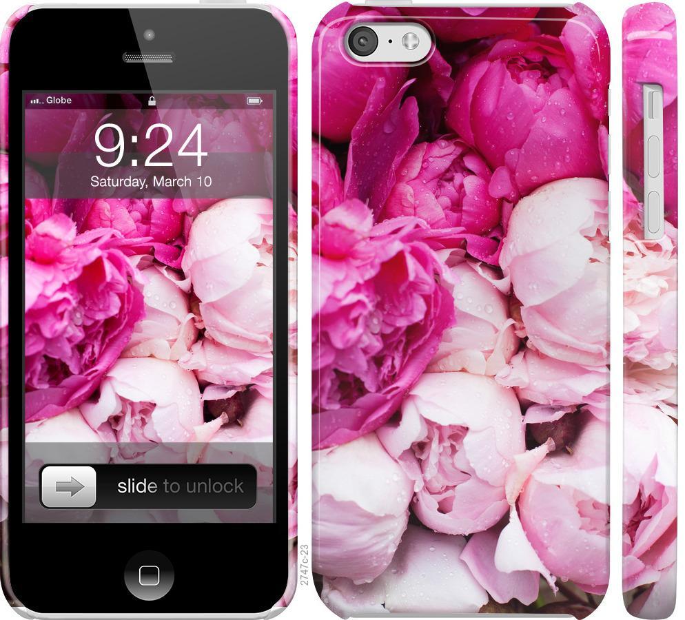 Чехол на iPhone 5c Розовые пионы
