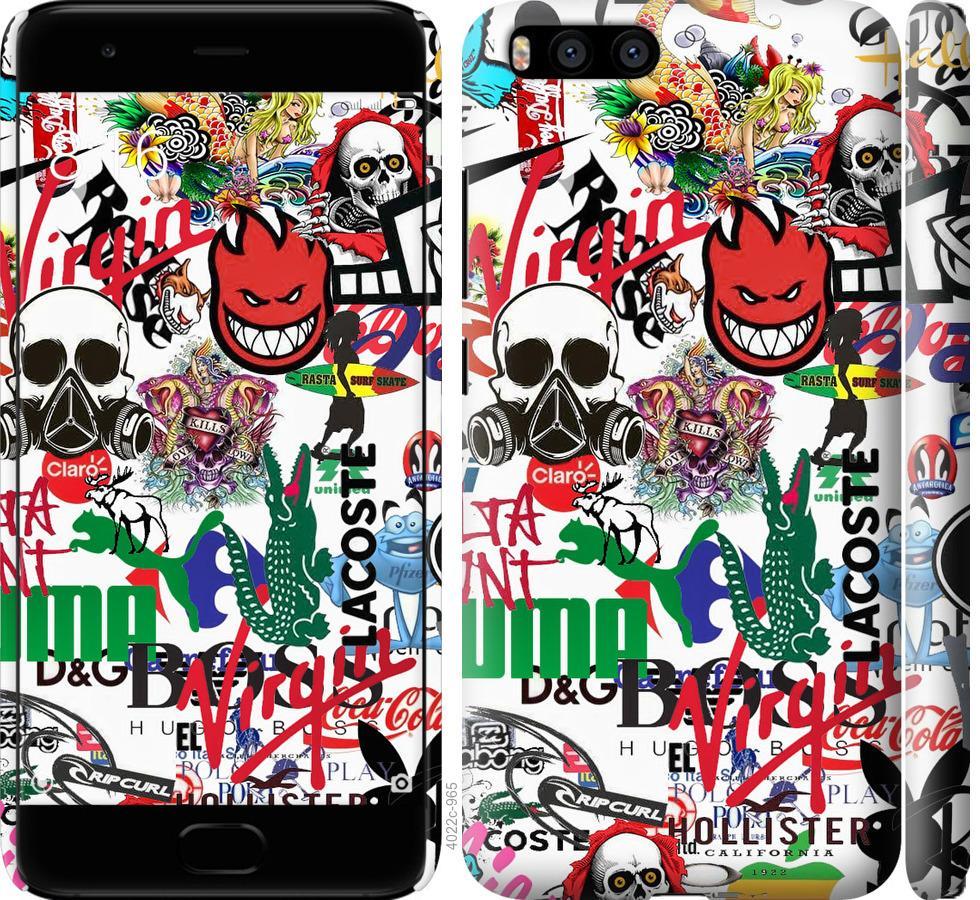 Чехол на Xiaomi Mi6 Many different logos