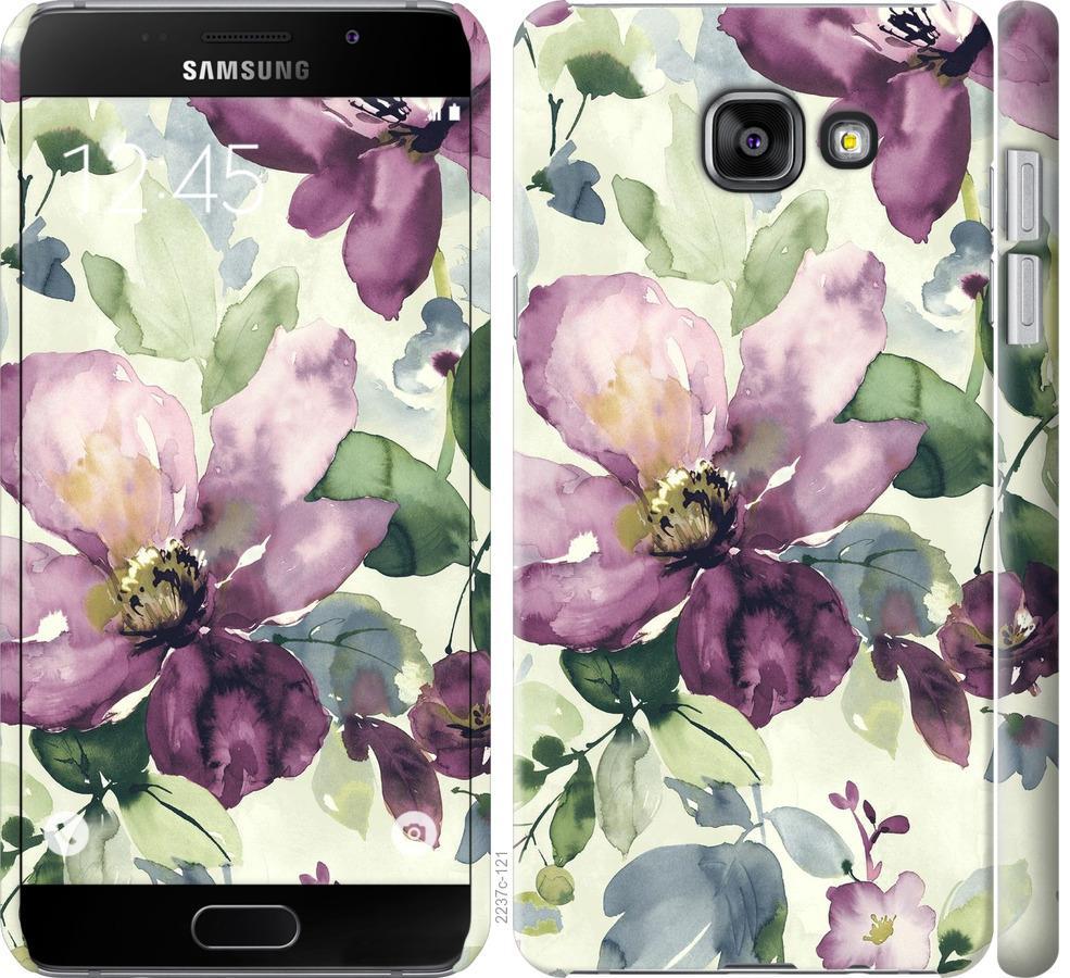 Чехол на Samsung Galaxy A7 (2016) A710F Цветы акварелью