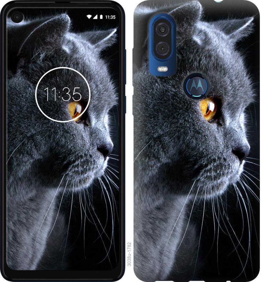 Чехол на Motorola One Vision Красивый кот