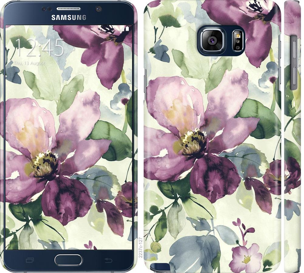 Чохол на Samsung Galaxy Note 5 N920C Квіти аквареллю