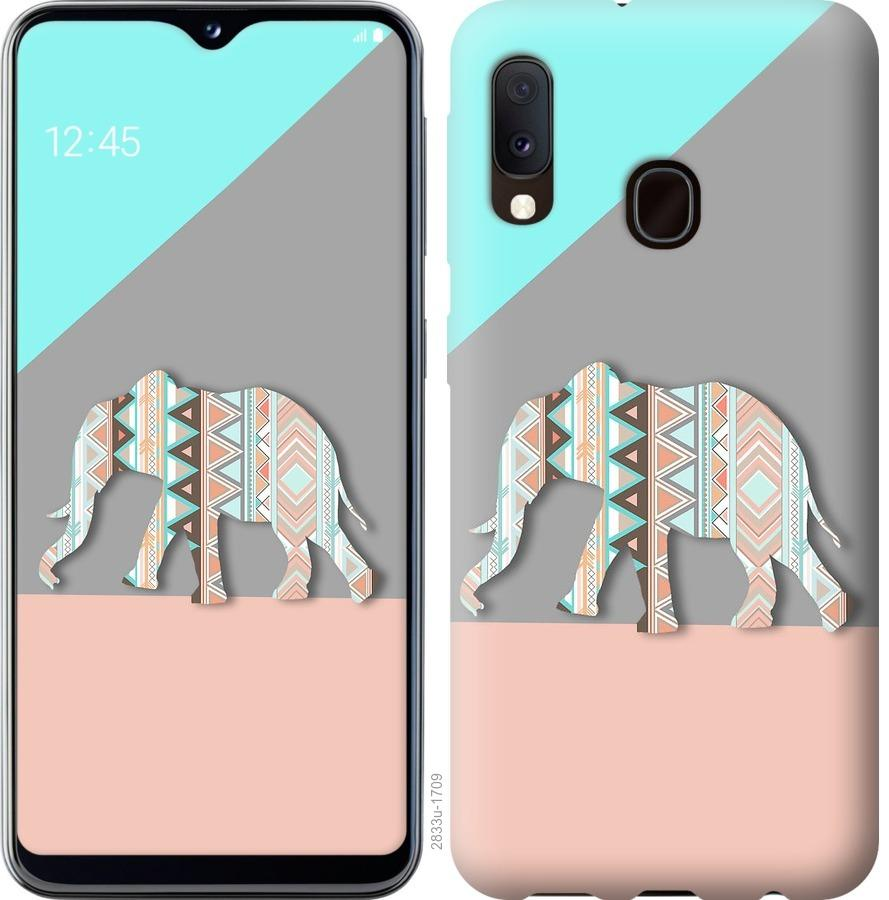 Чохол на Samsung Galaxy A20e A202F Візерунчастий слон