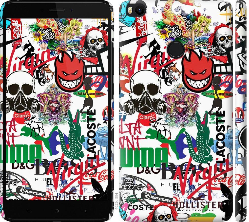 Чехол на Xiaomi Mi Max 2 Many different logos