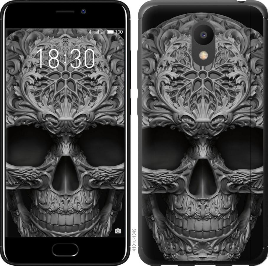 Чехол на Meizu M6 skull-ornament