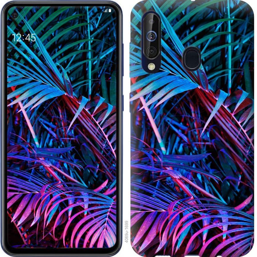 Чехол на Samsung Galaxy A60 2019 A606F Папоротник под ультрафиолетом