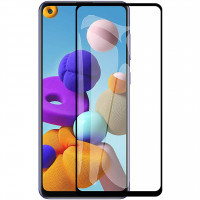 Защитное стекло XD+ (full glue) (тех.пак) для Samsung Galaxy A21s