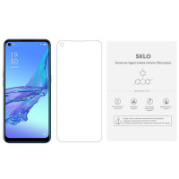 Защитная гидрогелевая пленка SKLO (экран) (тех.пак) для Oppo A74 4G