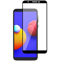 Защитное стекло 2.5D CP+ (full glue) для Samsung Galaxy A01 Core