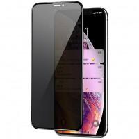 """Защитное стекло Privacy 5D Matte (full glue) (тех.пак) для Apple iPhone 12 Pro / 12 (6.1"""")"""