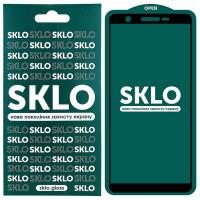 Защитное стекло SKLO 5D (full glue) для Samsung Galaxy A01 Core
