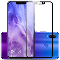 Захисне кольорове скло Mocolo (full glue) на весь екран для Huawei Nova 3