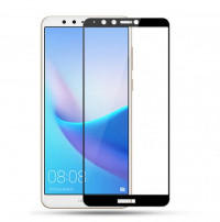 Захисне кольорове скло Mocolo (full glue) на весь екран для Huawei Y6 (2018)