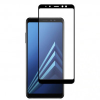 Захисне кольорове скло Mocolo (full glue) на весь екран для Samsung Galaxy A8 (2018) (A530)