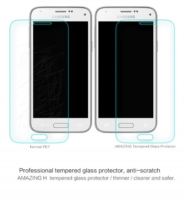 Фото Защитное стекло Nillkin Anti-Explosion Glass Screen (H) для Samsung G800H Galaxy S5 mini в магазине itsell.ua