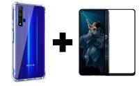 Защитное стекло 2.5D CP+ (full glue) для Huawei Honor 20 / Nova 5T + TPU чехол Epic Ease с усиленными углами для Huawei Honor 20 / Nova 5T