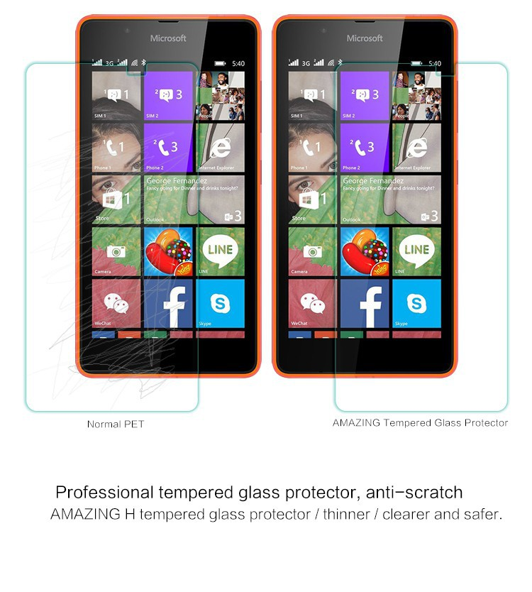 Защитное стекло Nillkin Anti-Explosion Glass Screen (H) для Microsoft Lumia 540 на itsell.ua