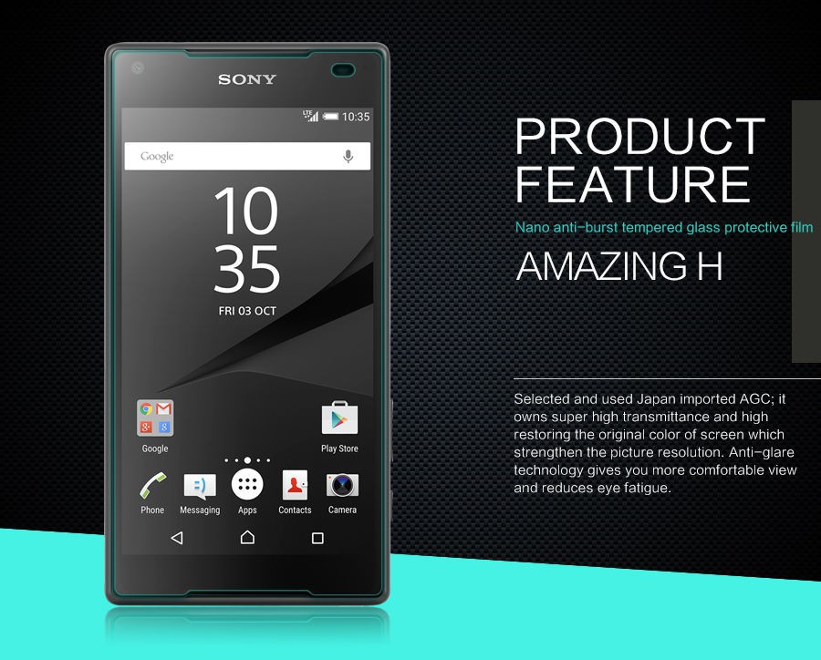 Защитное стекло Nillkin Anti-Explosion Glass Screen (H) для Sony Xperia Z5 Compact на itsell.ua