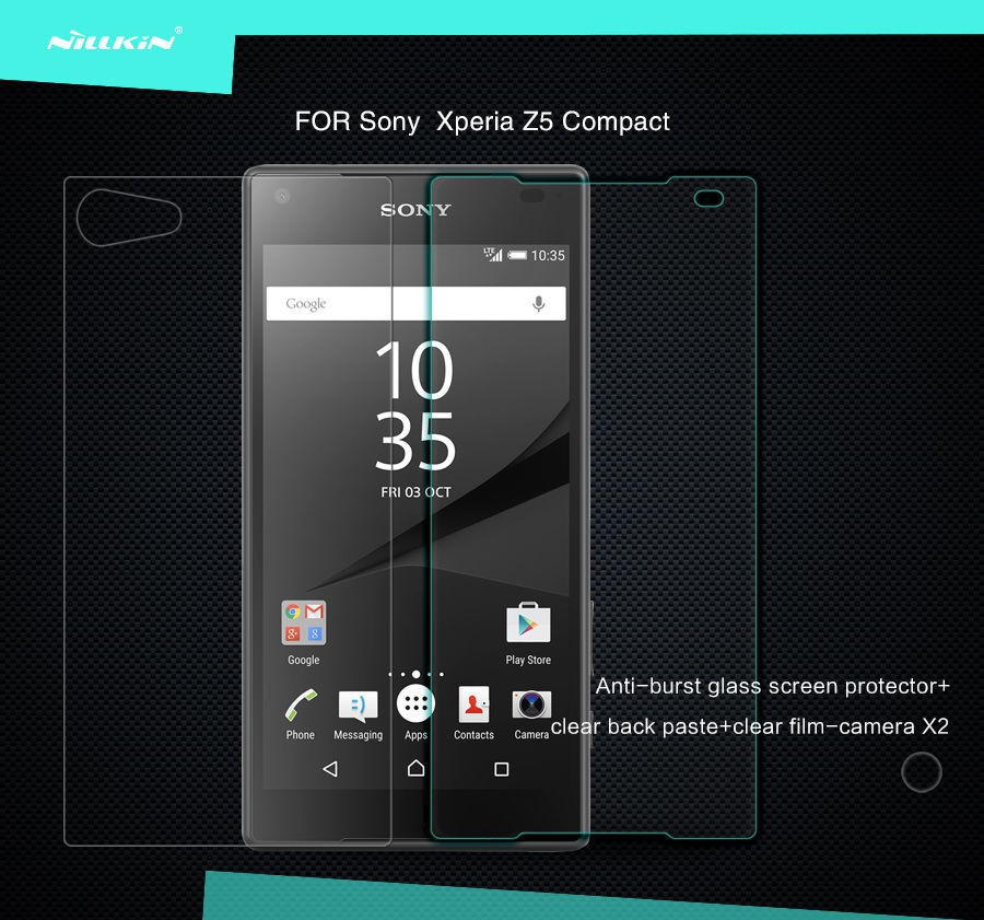 Купить Защитное стекло Nillkin Anti-Explosion Glass Screen (H) для Sony Xperia Z5 Compact за 259 грн