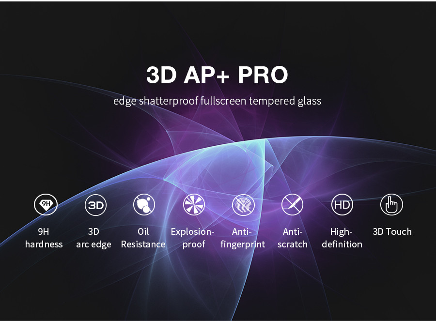 Фото Защитное стекло Nillkin Edge Shatterproof Full Screen (3D AP+PRO) для Apple iPhone 7 / 8 (4.7