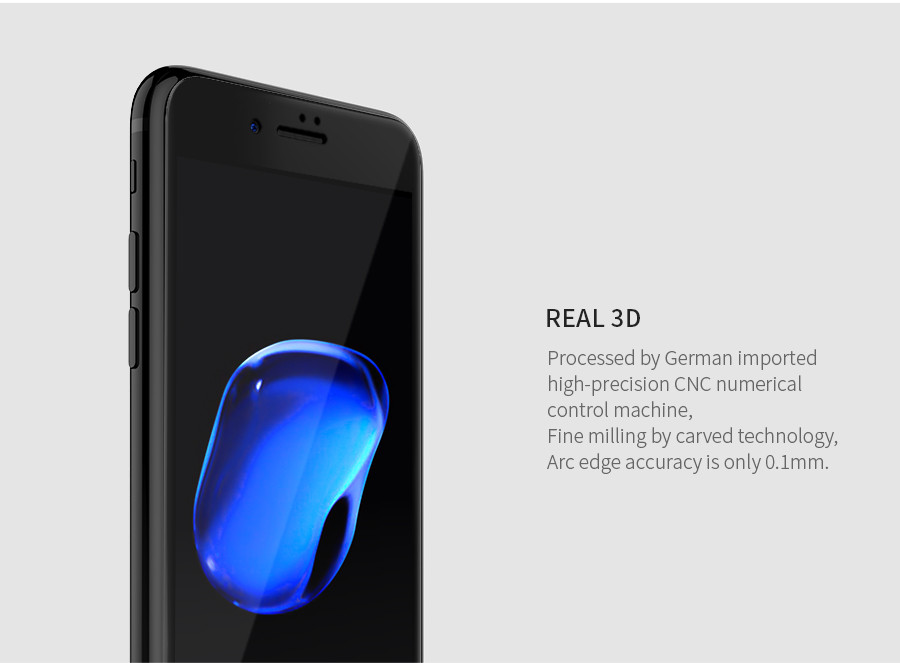 Защитное стекло Nillkin Edge Shatterproof Full Screen (3D AP+PRO) для Apple iPhone 7 / 8 (4.7