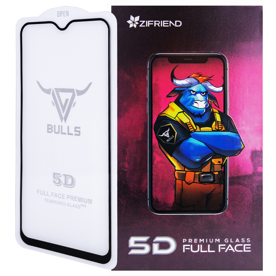 Захисне скло Zifriend 5D Full Face (full glue) для Xiaomi Redmi 7