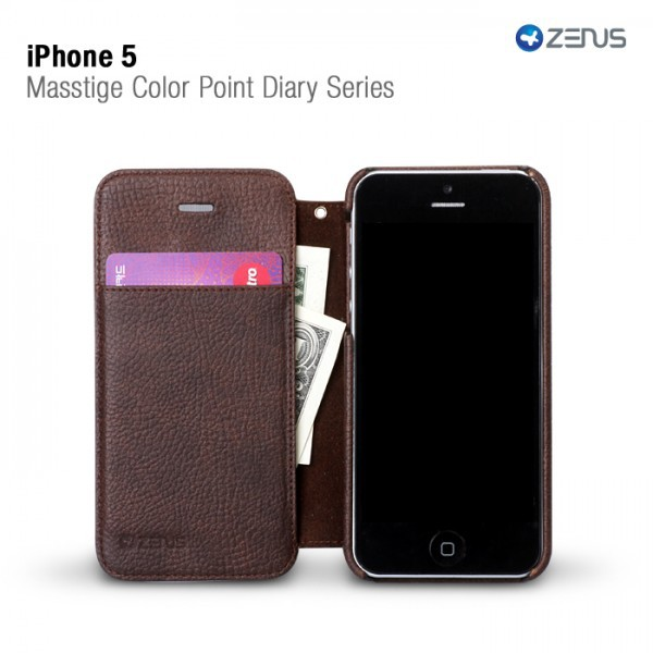 Купить Кожаный чехол Zenus Masstige Color Point Diary Series для Apple iPhone 5 на itsell.ua