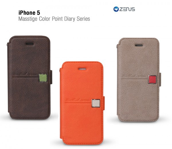 Купить Кожаный чехол Zenus Masstige Color Point Diary Series для Apple iPhone 5 за 279 грн