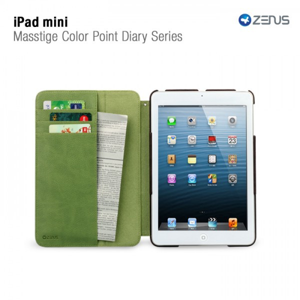 Фото Кожаный чехол Zenus Masstige Color Point Folio Series для Apple IPAD mini в магазине itsell.ua