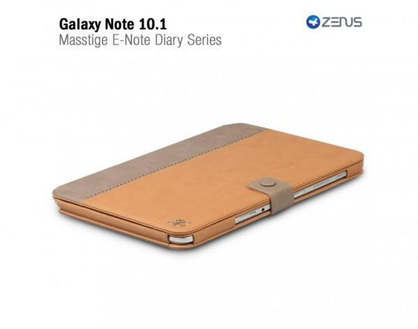 Фото Чехол Zenus Masstige E-note Diary для Samsung N8000 Galaxy Note 10.1 +  Защитная пленка ROCK для Samsung Galaxy Note 10.1 N8000 коричневый на itsell.ua
