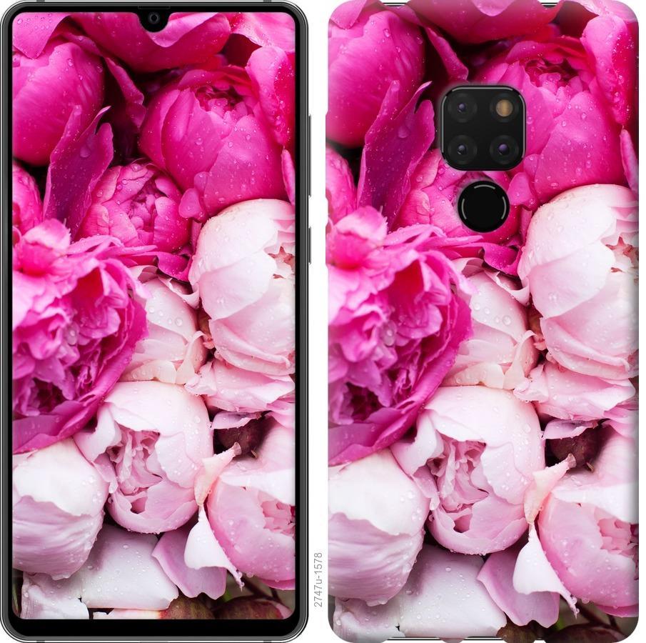 Чехол на Huawei Mate 20 Розовые пионы