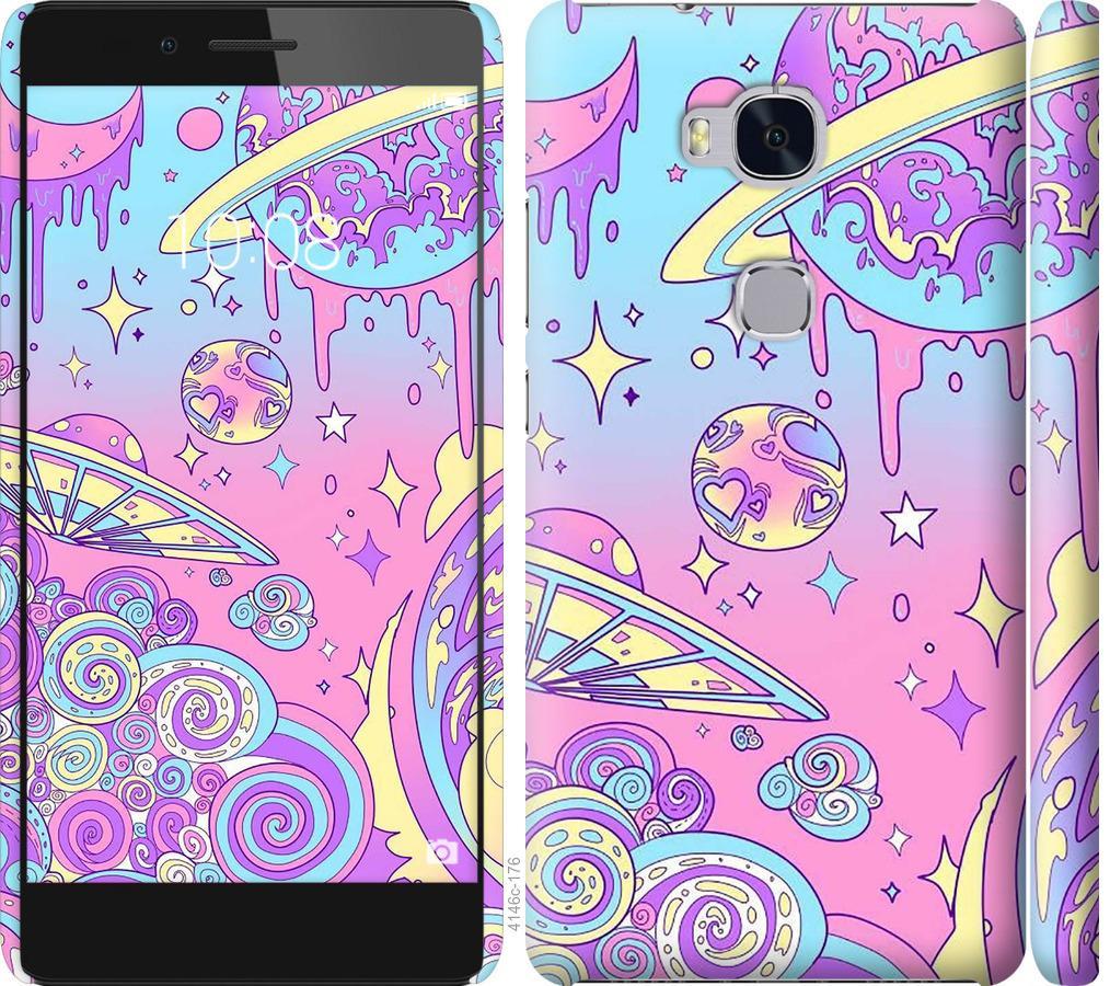 Чехол на Huawei Honor 5X Розовая галактика