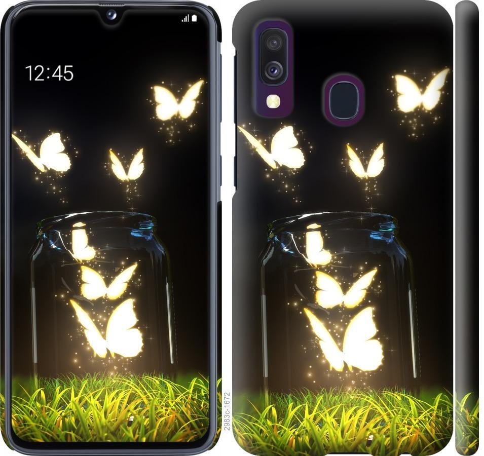 Чехол на Samsung Galaxy A40 2019 A405F Бабочки