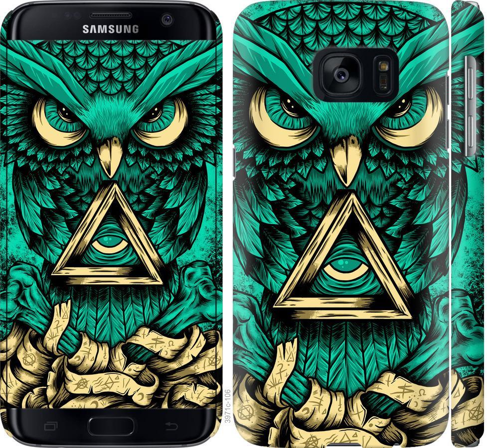 Чехол на Samsung Galaxy S7 G930F Сова Арт-тату