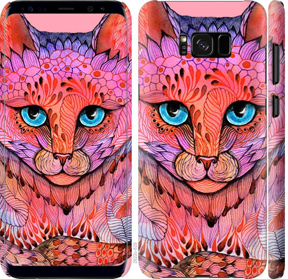 Чехол на Samsung Galaxy S8 Узорчатая кошка